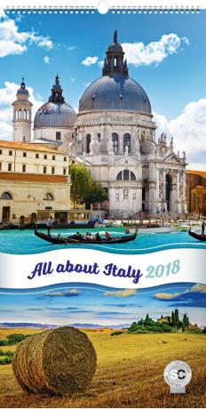 Nástěnný kalendář Zaostřeno na Itálii 2018, 33 x 64 cm