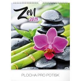 Nástěnný kalendář Zen 2019, 30 x 34 cm