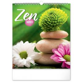Nástěnný kalendář Zen 2021, 30 × 34 cm