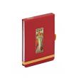 Notes Alfons Mucha – Champagne, linkovaný, 9 x 13 cm