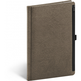 Notebook Hardy, brown, lined, 13 × 21 cm