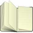 Notes Hobbit černý, linkovaný, 10,5 x 15,8 cm