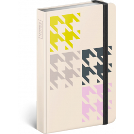 Notebook Houndstooth Mini, lined, 9 x 13 cm