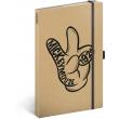 Notes Mickey Craft linkovaný, 13 × 21 cm