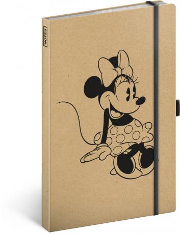 Notes Minnie Craft linkovaný, 13 × 21 cm