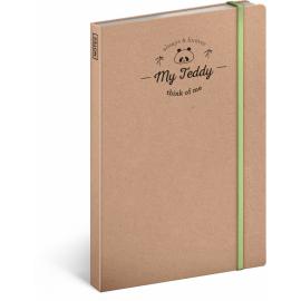 Notebook My Teddy, unlined, 13 x 21 cm