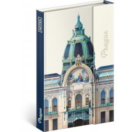 Notes Praha – Libero Patrignani, linkovaný, 11 × 16 cm