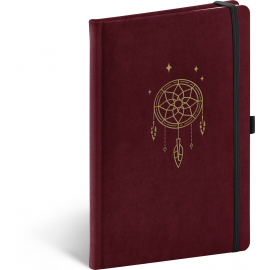 Notebook Velvet, Dream Catcher, lined, 13 × 21 cm