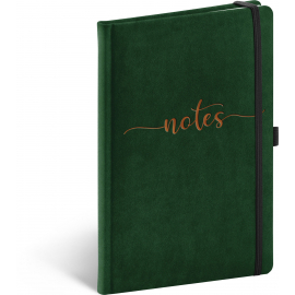Notebook Velvet, Typo, lined, 13 × 21 cm