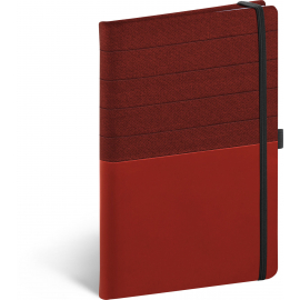 Notebook Skiver, red-burgundy, lined, 13 × 21 cm