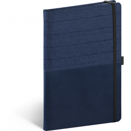 Notebook Skiver, blue-blue, lined, 13 × 21 cm