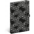 Notes Star Wars Black linkovaný, 13 × 21 cm