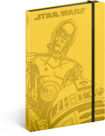 Notes Star Wars – Droids, linkovaný, 13 x 21 cm