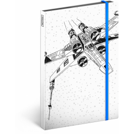 Notes Star Wars – X-wing, nelinkovaný, 13 x 21 cm