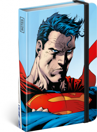 Notes Superman – World Hero, linkovaný, 11 × 16 cm