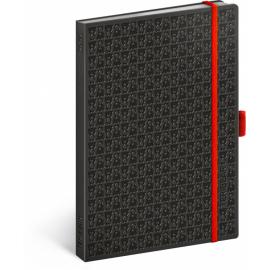 Notes Teribear, černý, linkovaný, 15 x 21 cm, A5