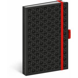 Notebook Teribear, black, lined, 9 x 13 cm