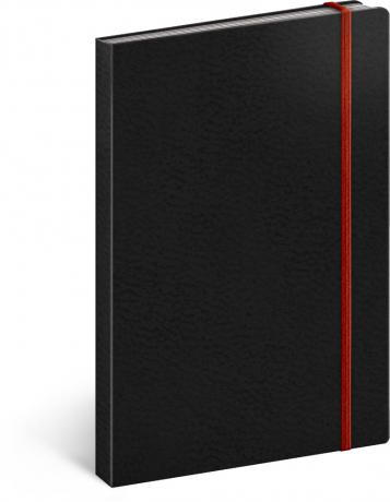 Notes Tucson černý/červený, linkovaný, 13 x 21 cm