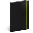 Notes Tucson černý/žlutý, linkovaný, 13 x 21 cm
