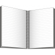 Notes Twin černý/bílý, linkovaný, 21 x 29,7 cm