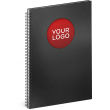 Notebook Twin black/red, lined, 21 × 29,7 cm