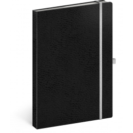 Notebook Vivella Classic black/white, lined, 15 × 21 cm
