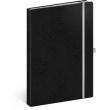 Notes Vivella Classic černý/bílý, linkovaný, 15 × 21 cm