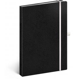 Notebook Vivella Classic black/white, dotted, 15 × 21 cm