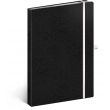 Notebook Vivella Classic black/white, dotted, 15 × 21 cm
