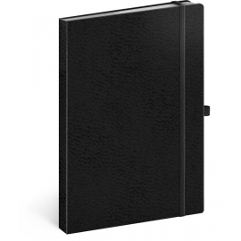 Notebook Vivella Classic black/black, lined, 15 × 21 cm