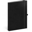 Notes Vivella Classic černý/černý, linkovaný, 15 × 21 cm