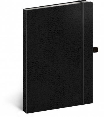 Notebook Vivella Classic black/black, dotted, 15 × 21 cm