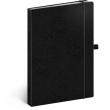Notes Vivella Classic černý/černý, tečkovaný, 15 × 21 cm