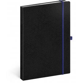 Notes Vivella Classic černý/modrý, linkovaný, 15 × 21 cm