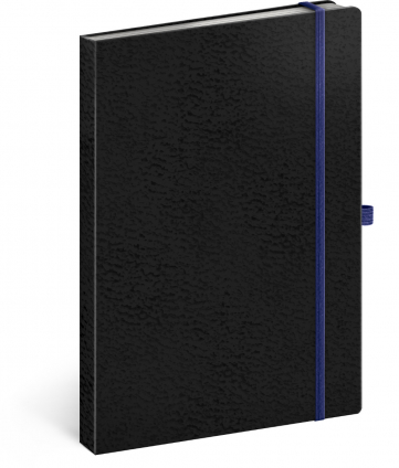 Notebook Vivella Classic black/blue, lined, 15 × 21 cm
