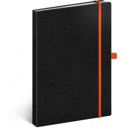 Notebook Vivella Classic black/orange, dotted, 15 × 21 cm
