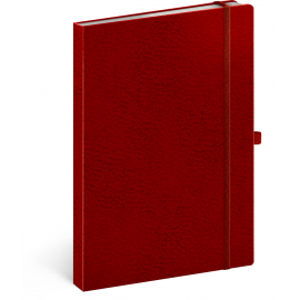 Notebook Vivella Classic red/red, lined, 15 × 21 cm