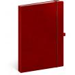 Notes Vivella Classic červený/červený, linkovaný, 15 × 21 cm