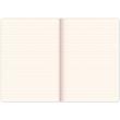 Notes Vivella Classic červený/červený, linkovaný, 15 x 21 cm