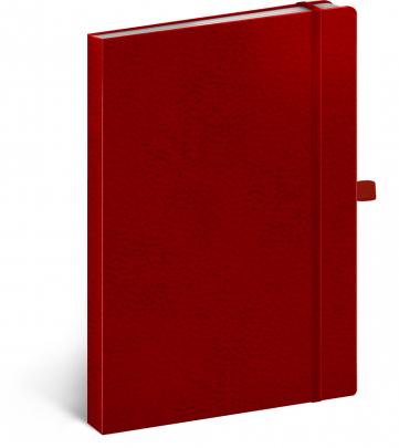 Notes Vivella Classic červený/červený, tečkovaný, 15 × 21 cm
