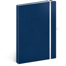 Notebook Vivella Classic blue/white, dotted, 15 × 21 cm