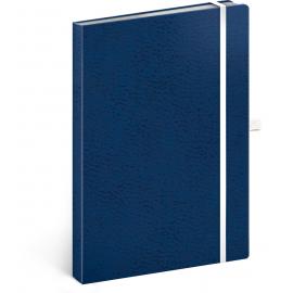 Notes Vivella Classic modrý/bílý, tečkovaný, 15 × 21 cm