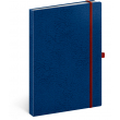 Notebook Vivella Classic blue/red, lined, 15 × 21 cm