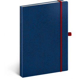 Notebook Vivella Classic blue/red, dotted, 15 × 21 cm