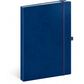 Notebook Vivella Classic blue/blue, lined, 15 × 21 cm
