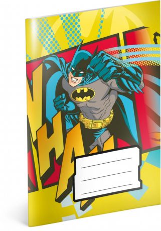 Notýsek Batman, A6, 20 listů, linkovaný