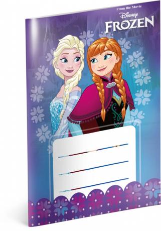 Notýsek Frozen – Ledové království, A6, 20 listů, linkovaný