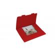 Obálka dárková na kalendáře 30x30 cm - červená, balení 3 kusy