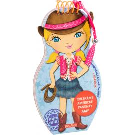 Oblékáme americké panenky AMY - omalovánky