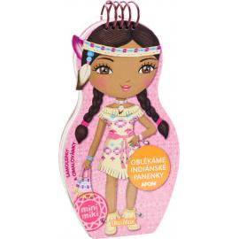 Oblékáme indiánské panenky Aponi - omalovánky